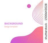 modern abstract background set. ... | Shutterstock .eps vector #1500643028