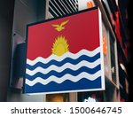 flag of kiribati on shop sign.... | Shutterstock . vector #1500646745