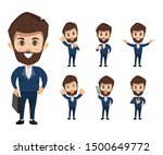 set of businessman creation... | Shutterstock .eps vector #1500649772