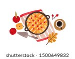 autumn food hand drawn vector... | Shutterstock .eps vector #1500649832