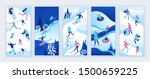 social media stories vector set ... | Shutterstock .eps vector #1500659225