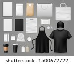 mock up for cafe. realistic... | Shutterstock .eps vector #1500672722