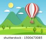 hot air balloon paper. origami...   Shutterstock .eps vector #1500673085