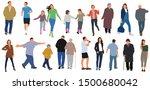 cartoon men and women walking... | Shutterstock .eps vector #1500680042