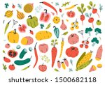 collection of hand drawn... | Shutterstock .eps vector #1500682118