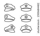 uniform cap of police service... | Shutterstock .eps vector #1500684482