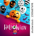 happy halloween trick or treat... | Shutterstock .eps vector #1500687698