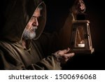 Mysterious Medieval Monk Light...