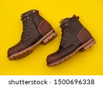 Men Fashion Brown Boots With...