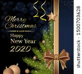 christmas and new year 2020....   Shutterstock .eps vector #1500703628
