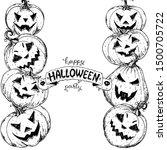 halloween pumpkin design... | Shutterstock .eps vector #1500705722