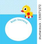 duck baby shower | Shutterstock .eps vector #150071372