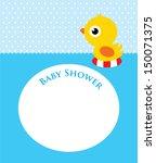 duck baby shower | Shutterstock .eps vector #150071375