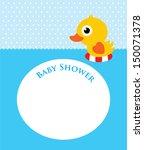 duck baby shower | Shutterstock .eps vector #150071378