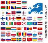 official list of all european... | Shutterstock .eps vector #15007249