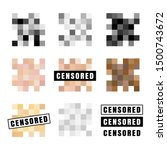 censored labels collection.... | Shutterstock .eps vector #1500743672