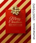 christmas club poster design.... | Shutterstock .eps vector #1500773492