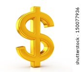 golden dollar symbol | Shutterstock . vector #150077936