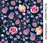 seamless romantic pattern with... | Shutterstock .eps vector #1500790178