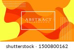 orange elements with fluid... | Shutterstock .eps vector #1500800162