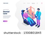 dental care isometric landing... | Shutterstock .eps vector #1500801845