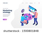 marketing strategy isometric... | Shutterstock .eps vector #1500801848