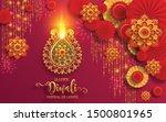 diwali  deepavali or dipavali... | Shutterstock .eps vector #1500801965