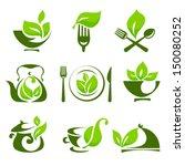 organic food design elements | Shutterstock .eps vector #150080252