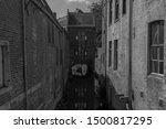 Black And White Image Of An...