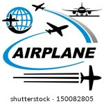 airplane icons | Shutterstock .eps vector #150082805