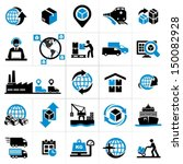 logistics icons | Shutterstock .eps vector #150082928