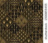 art deco pattern. seamless... | Shutterstock .eps vector #1500855455