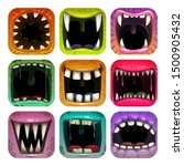 scary mouth icons. app icon set ...