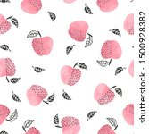 seamless pattern with pink... | Shutterstock .eps vector #1500928382