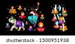 happy diwali. indian festival... | Shutterstock .eps vector #1500951938