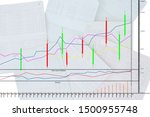 Small photo of Slow stochastic oscillator on account book blur image background. Stock chart list. - Finance concept.