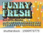 a funky and fresh alphabet font ... | Shutterstock .eps vector #1500973775