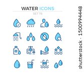 water icons. vector line icons... | Shutterstock .eps vector #1500994448