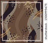 abstract scarf pattern design... | Shutterstock .eps vector #1500995675