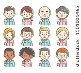 set of avatars of happy people...   Shutterstock .eps vector #1501001465