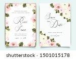 luxury wedding invitation set... | Shutterstock .eps vector #1501015178