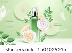 cosmetic spray bottle ads with... | Shutterstock .eps vector #1501029245