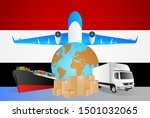 yemen logistics concept... | Shutterstock . vector #1501032065