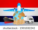 netherlands logistics concept... | Shutterstock . vector #1501032242