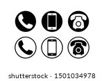 phone icon vector. set...