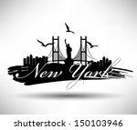 america,architecture,artwork,background,bird,bridge,brooklyn bridge,brush,building,city,cityscape,coast,dark,design,downtown