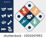 bugle icon set. 13 filled bugle ... | Shutterstock .eps vector #1501047092