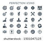perfection icon set. 30 filled... | Shutterstock .eps vector #1501047125