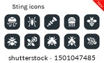 sting icon set. 10 filled sting ... | Shutterstock .eps vector #1501047485