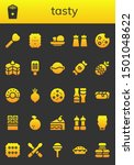 tasty icon set. 26 filled tasty ... | Shutterstock .eps vector #1501048622